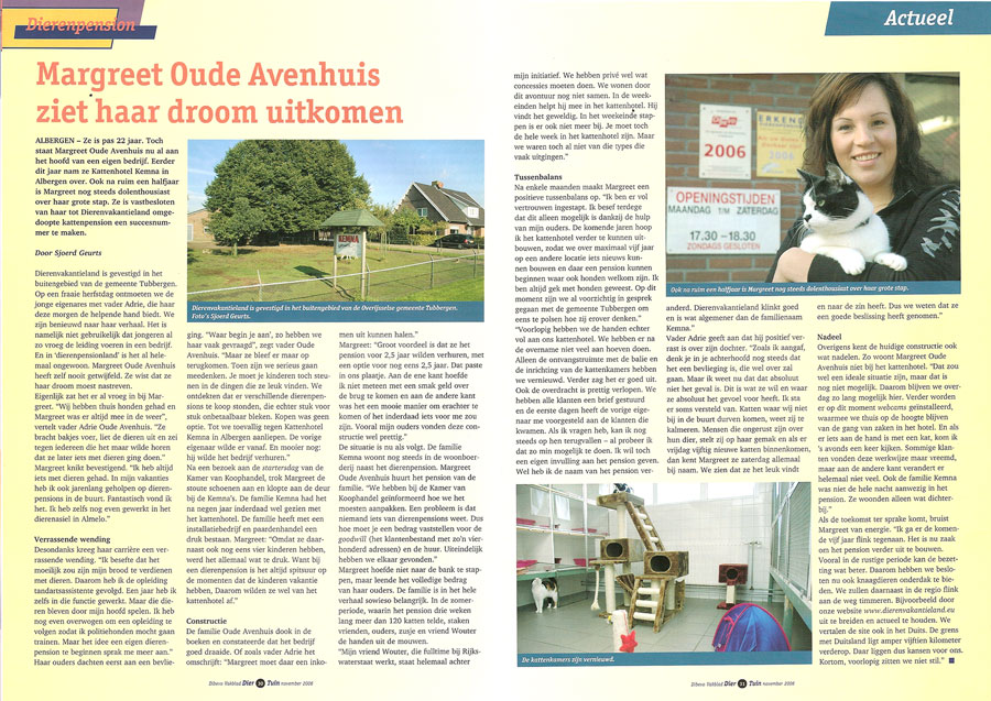 Artikel in Divebo Vakblad november 2006